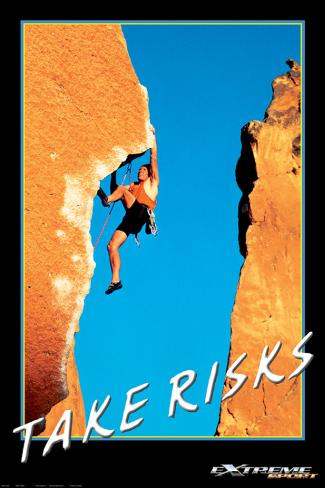 Take Risks Stretched Canvas Print