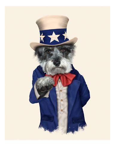 Uncle Sam (Pets Rock) Impressão artística