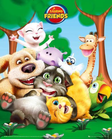Talking Friends-Cast Mini Poster