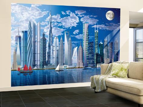 Tallest Buildings Huge Wall Mural Art Print Poster Wallpaper Mural
