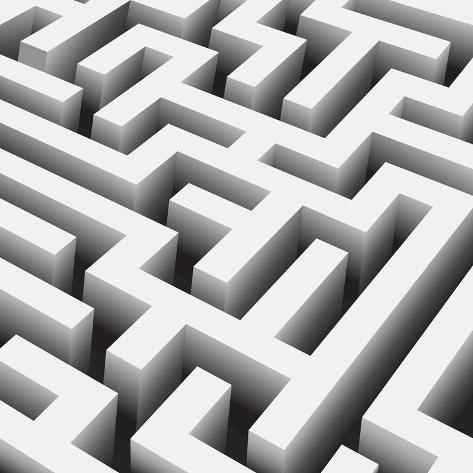 Vector Maze close Up Art Print