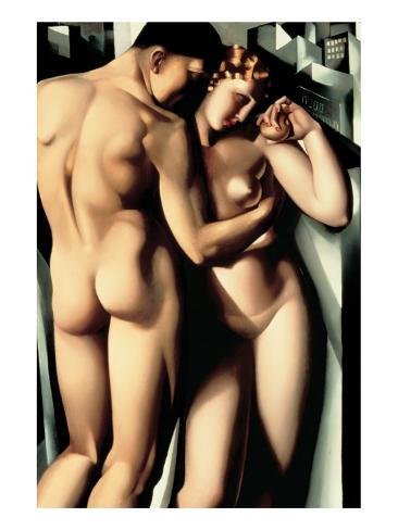 Aatami ja Eeva (Adam and Eve) Premium-giclée-vedos