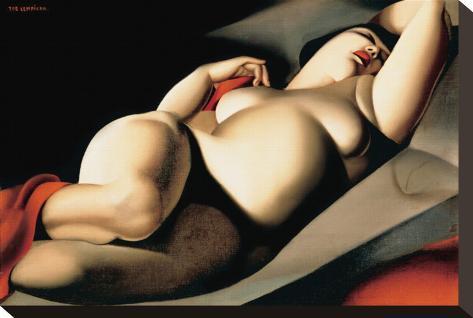 La Belle Rafaela Stretched Canvas Print