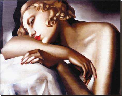 La Dormeuse Stretched Canvas Print