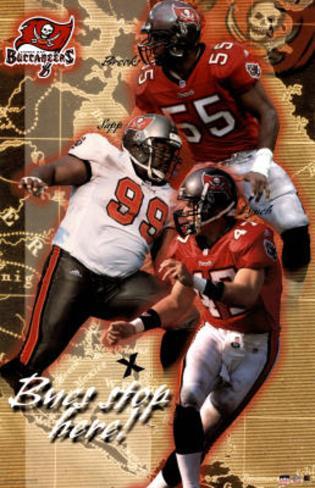 Tampa Bay Buccaneers Derrick Brooks Warren Sapp John Lynch Sports Poster Print Poster