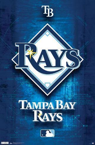 Tampa Bay Rays- Blueprint Logo Poster