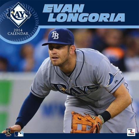Tampa Bay Rays Evan Longoria - 2014 Calendar Calendars