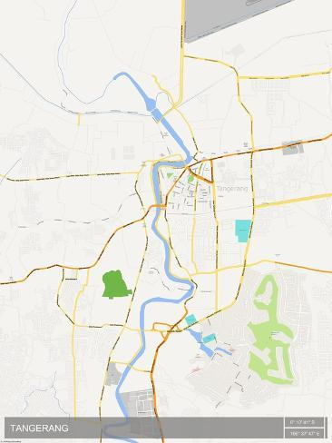 Tangerang Indonesia Map Prints AllPostersca