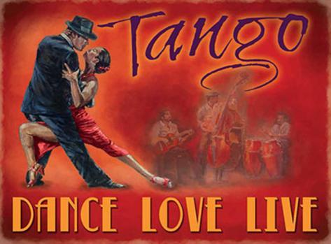 Tango - Dance, Love, Life Targa di latta