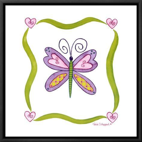 Lovebugs, Butterfly Framed Canvas Print