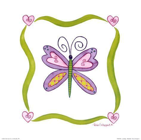 Lovebugs, Butterfly Art Print
