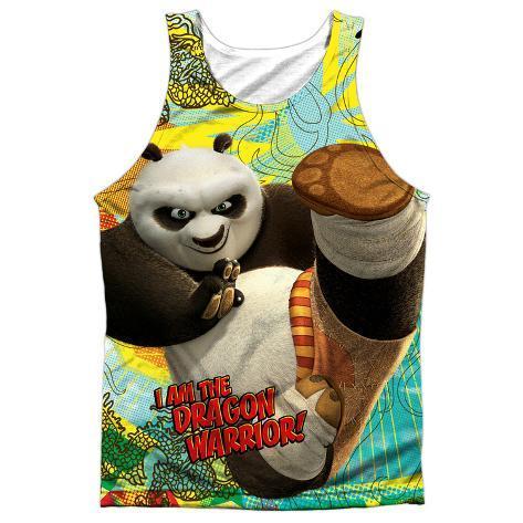 Tank Top: Kung Fu Panda- Dragon Warrior (Black Back) Tank Top