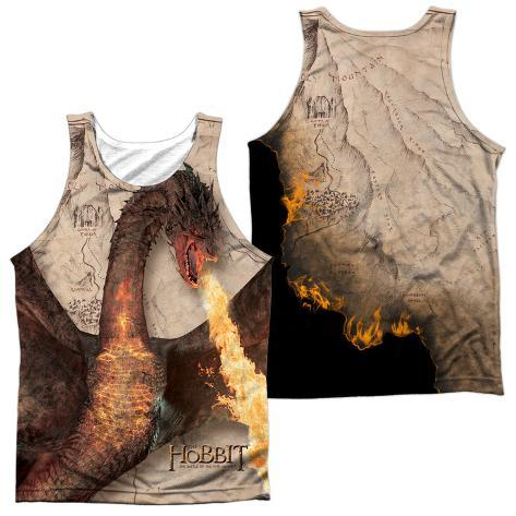 Tank Top: The Hobbit: The Battle Of The Five Armies- Smaug Attack (Front/Back) Tank Top