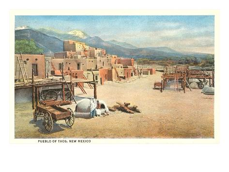 Taos Pueblo, New Mexico Art Print