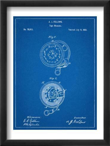 Tape Measure Patent Framed Art Print