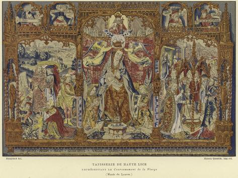 Tapestry Depicting the Coronation of the Virgin Lámina giclée