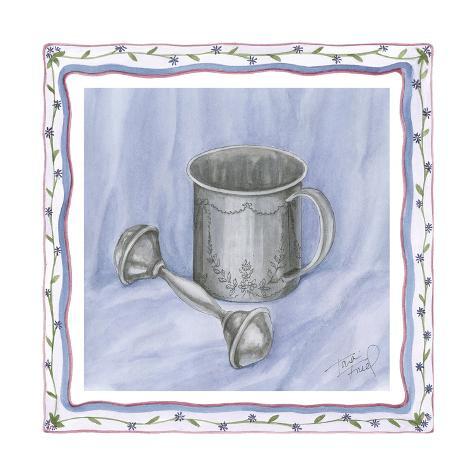 Heirloom Cup & Rattle I Premium Giclee Print