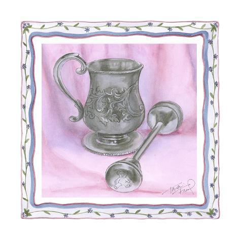 Heirloom Cup & Rattle II Art Print
