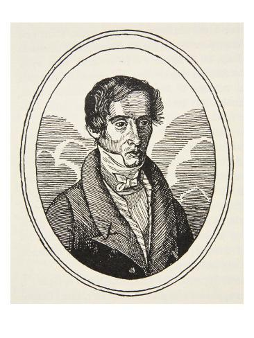 Augustin Fresnel, Copy by Boris Mestchersky Stretched Canvas Print