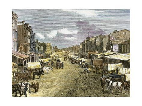 Saint Louis (Missouri) in 1850 Giclée-vedos