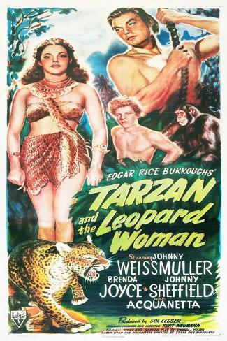 Tarzan and the Leopard Woman Art Print
