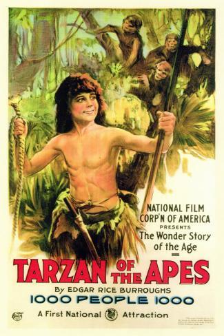 Tarzán o el hombre mono Lámina maestra