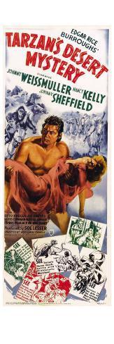 Tarzan's Desert Mystery, 1943 Stretched Canvas Print