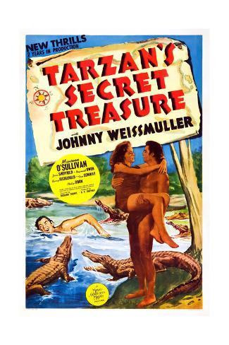 Tarzan's Secret Treasure Giclee Print