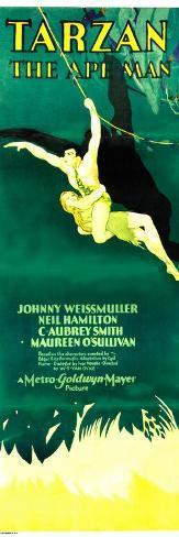 TARZAN THE APE MAN, Maureen O'Sullivan, Johnny Weissmuller, 1932 Impressão artística
