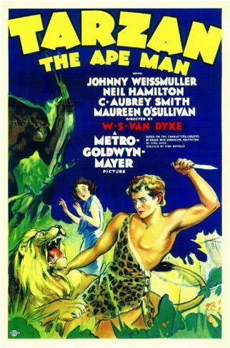 Tarzan, the Ape Man Masterprint