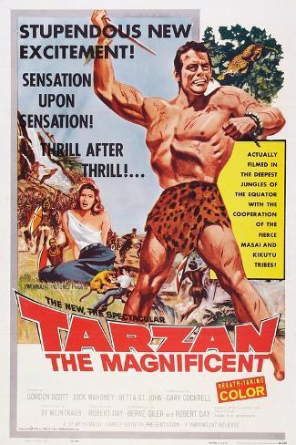 Tarzan the Magnificent, from Back Left: Betta St. John, Gordon Scott, 1960 Art Print