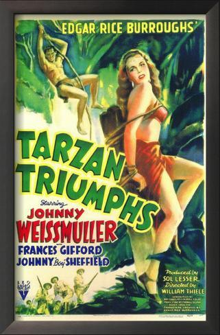 Tarzan Triumphs Impressão artística emoldurada