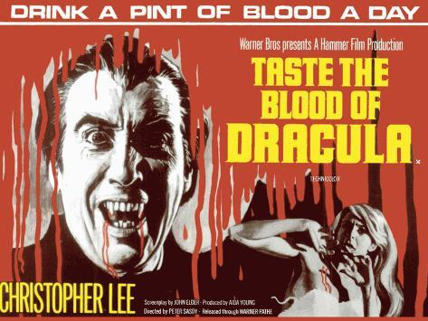 Taste the Blood of Dracula Tin Sign