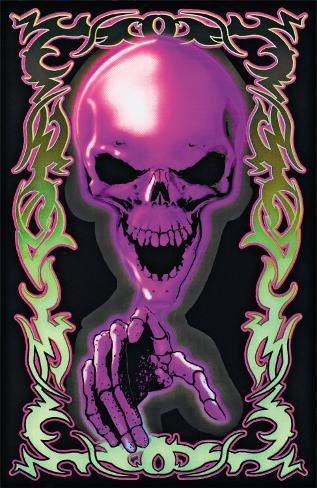 Tattoo Death Blacklight Poster