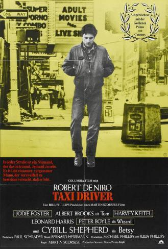 Taxi Driver - German Style Poster