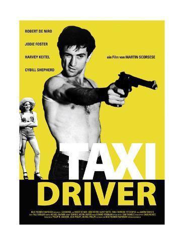 Taxi Driver, Jodie Foster, Robert De Niro, 1976 Gicléetryck