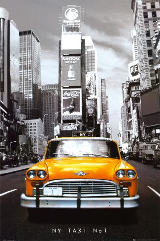 Taxi n. 1 a New York, in inglese Poster