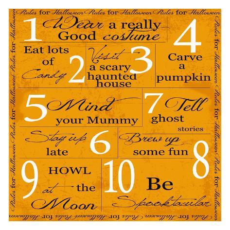October- Halloween Art Print