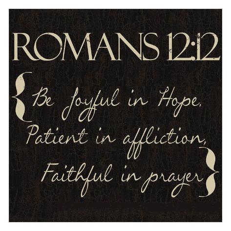Romans 12-12 Art Print