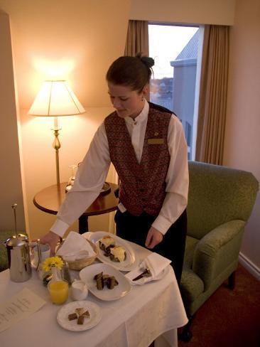 Room Service Breakfast at a Hotel Valokuvavedos