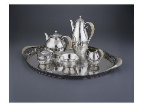 Tea and Coffee Service, Silver Giclee Print