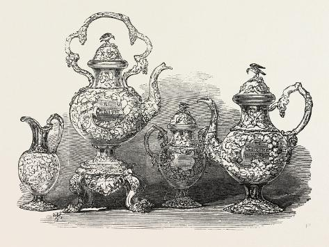 Tea Service of Californian Gold Giclée-vedos