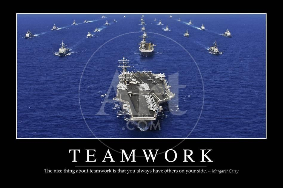 Teamwork Inspirational Quote And Motivational Poster Photographic Print At AllPosters