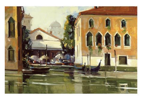Venice Cafe Giclee Print
