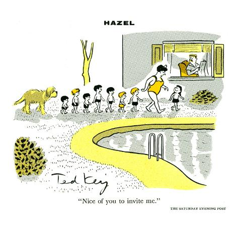 Hazel Cartoon Art Print