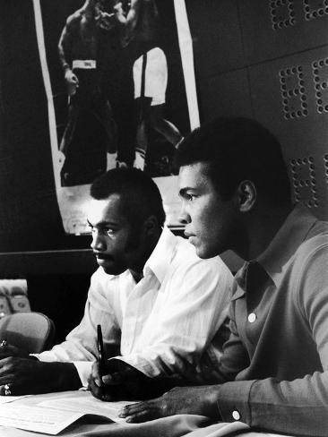 Muhammad Ali and Ken Norton, March of 1973 Photographic Print
