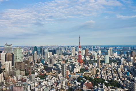 View of Tokyo Town Photographic Print
