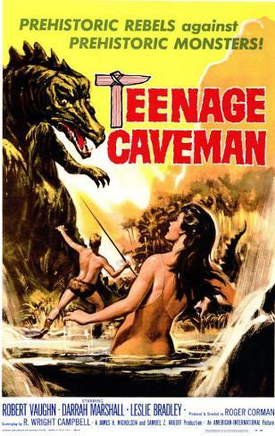 Teenage Caveman Masterprint