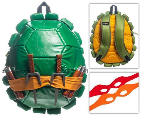 TMNT Shell Backpack W Masks green