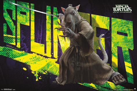 Teenage Mutant Ninja Turtles 2- Splinter Lamina Framed Poster